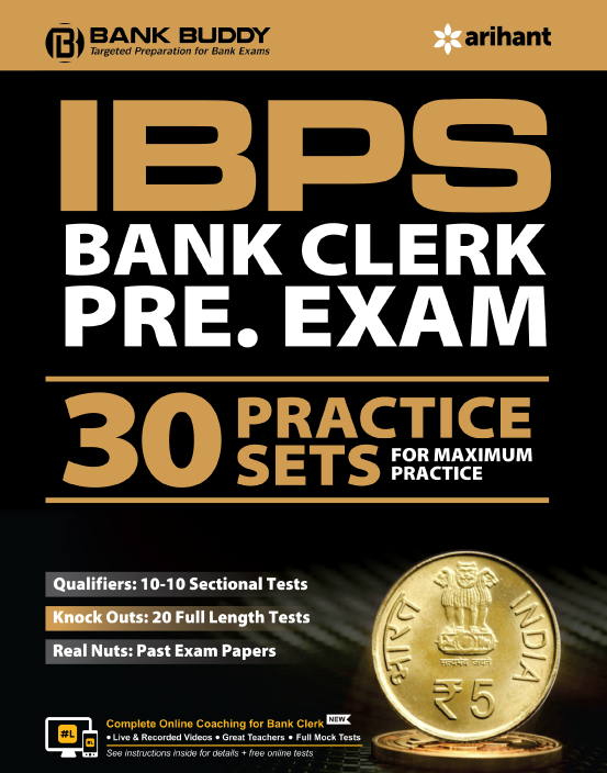 Link to book IBPS Bank Clerk Pre. Exam 2019